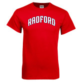Red T Shirt-Arched Radford