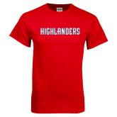 Red T Shirt-Highlander Wordmark