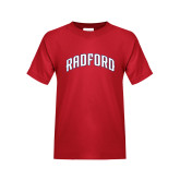 Youth Red T Shirt-Arched Radford