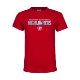 Youth Red T Shirt-Radford University Highlanders