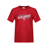 Youth Red T Shirt-Highlander Design