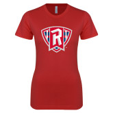 Next Level Ladies SoftStyle Junior Fitted Red Tee-R in Shield