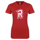 Next Level Ladies SoftStyle Junior Fitted Red Tee-R Mark