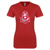 Next Level Ladies SoftStyle Junior Fitted Red Tee-Highlander