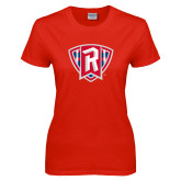 Ladies Red T Shirt-R in Shield