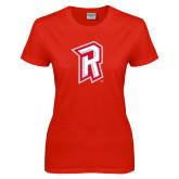Ladies Red T Shirt-R Mark