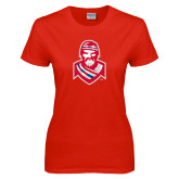 Ladies Red T Shirt-Highlander