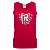 Red Tank Top-R in Shield