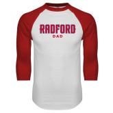 White/Red Raglan Baseball T Shirt-Dad