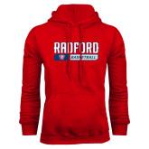 Red Fleece Hoodie-Basketball Design