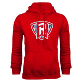 Red Fleece Hoodie-R in Shield