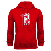 Red Fleece Hoodie-R Mark