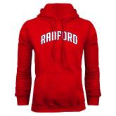 Red Fleece Hoodie-Arched Radford