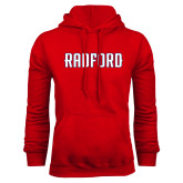 Red Fleece Hoodie-Radford Wordmark