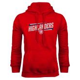 Red Fleece Hoodie-Highlander Design