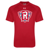 Under Armour Red Tech Tee-R in Shield
