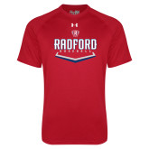 Under Armour Red Tech Tee-Baseball Design