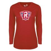 Ladies Syntrel Performance Red Longsleeve Shirt-R in Shield