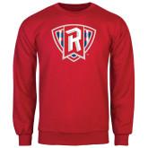 Red Fleece Crew-R in Shield