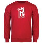 Red Fleece Crew-R Mark