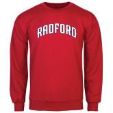 Red Fleece Crew-Arched Radford