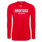 Under Armour Red Long Sleeve Tech Tee-Alumni