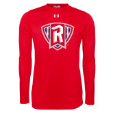 Under Armour Red Long Sleeve Tech Tee-R in Shield