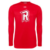Under Armour Red Long Sleeve Tech Tee-R Mark