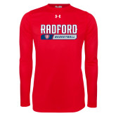 Under Armour Red Long Sleeve Tech Tee-Basketball Design