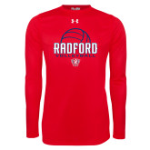 Under Armour Red Long Sleeve Tech Tee-Volleyball Design