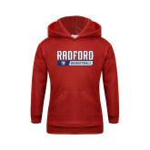 Youth Red Fleece Hoodie-Basketball Design