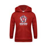 Youth Red Fleece Hoodie-Soccer Design