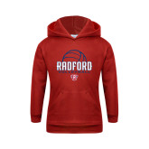 Youth Red Fleece Hoodie-Volleyball Design