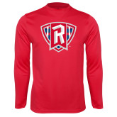 Performance Red Longsleeve Shirt-R in Shield