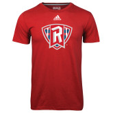 Adidas Climalite Red Ultimate Performance Tee-R in Shield