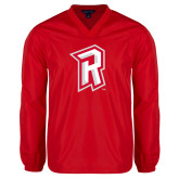 V Neck Red Raglan Windshirt-R Mark