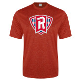 Performance Red Heather Contender Tee-R in Shield