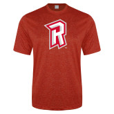 Performance Red Heather Contender Tee-R Mark