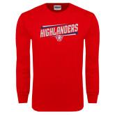 Red Long Sleeve T Shirt-Highlander Design