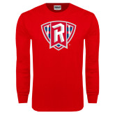 Red Long Sleeve T Shirt-R in Shield