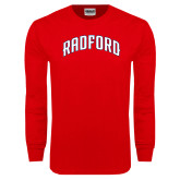 Red Long Sleeve T Shirt-Arched Radford