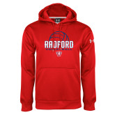 Under Armour Red Performance Sweats Team Hoodie-Volleyball Design