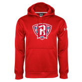 Under Armour Red Performance Sweats Team Hoodie-R in Shield