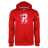 Under Armour Red Performance Sweats Team Hoodie-R Mark