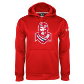 Under Armour Red Performance Sweats Team Hoodie-Highlander