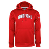 Under Armour Red Performance Sweats Team Hoodie-Arched Radford