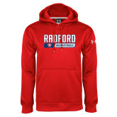 Under Armour Red Performance Sweats Team Hoodie-Basketball Design