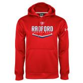 Under Armour Red Performance Sweats Team Hoodie-Baseball Design