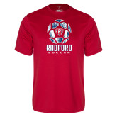 Performance Red Tee-Soccer Design