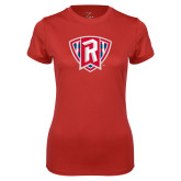 Ladies Syntrel Performance Red Tee-R in Shield